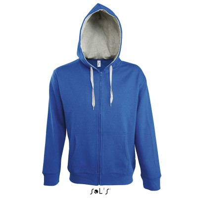 Sweat shirt à capuche avec fermeture éclair complète 50% coton50% polyester 280 gm²