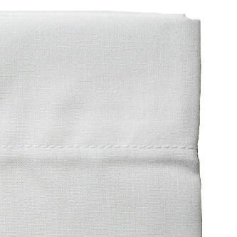 drap plat 50 coton 50 polyester blanc 180 x 300 cm. Black Bedroom Furniture Sets. Home Design Ideas