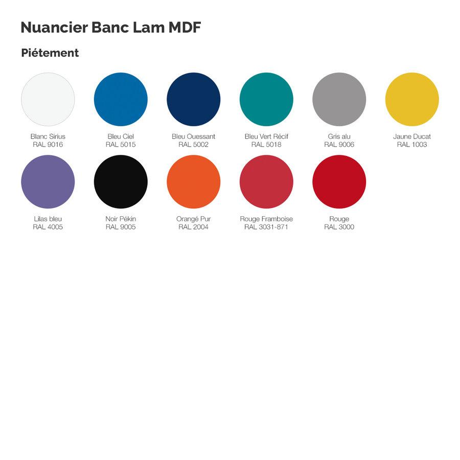 Banc Lam Mdf Sans Dossier L 160 Cm Taille 2