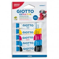 Trousse 5 tubes gouache 10 ml - Giotto - coloris assortis