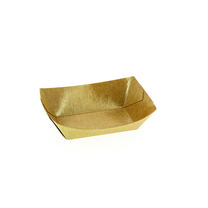 Barquette brune en carton 100 g - lot de 1000