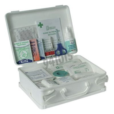 Trousse secours en polypro blanc 8 pers asep p 28