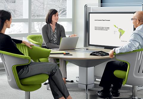 Mobilier d'accueil et détente mediascape écran
