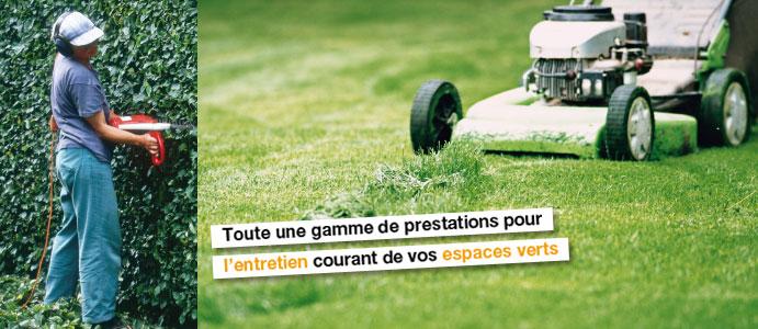 Espaces verts for Offre emploi entretien espaces verts