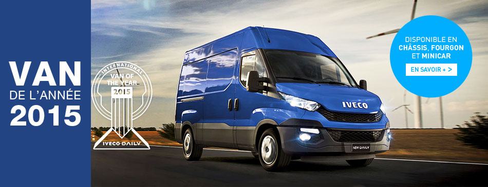 Iveco Daily, van of the year 2015, disponible en châssis, fourgon et minicar