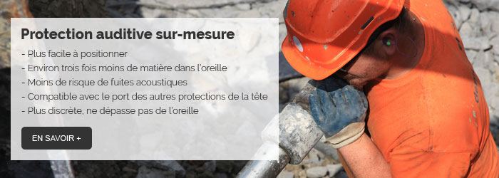 Protection auditive sur-mesure